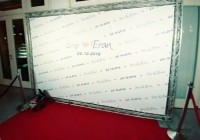 קיר צילום לחתונה